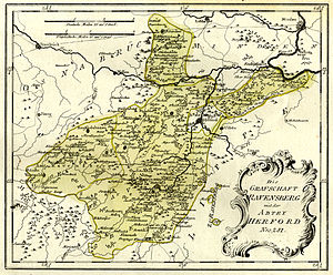 County of Ravensberg - Historic map of the County of Ravensberg (1798)