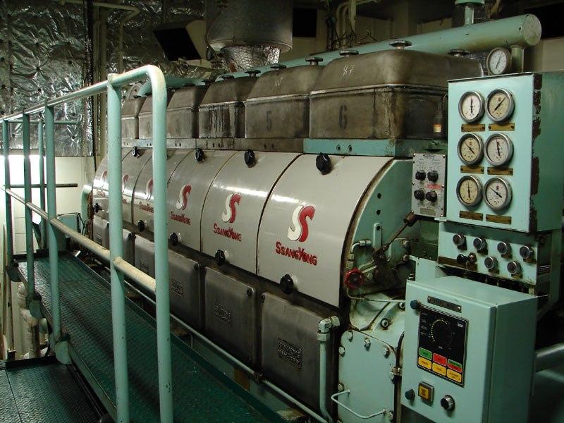 Diesel generator on an oil tanker