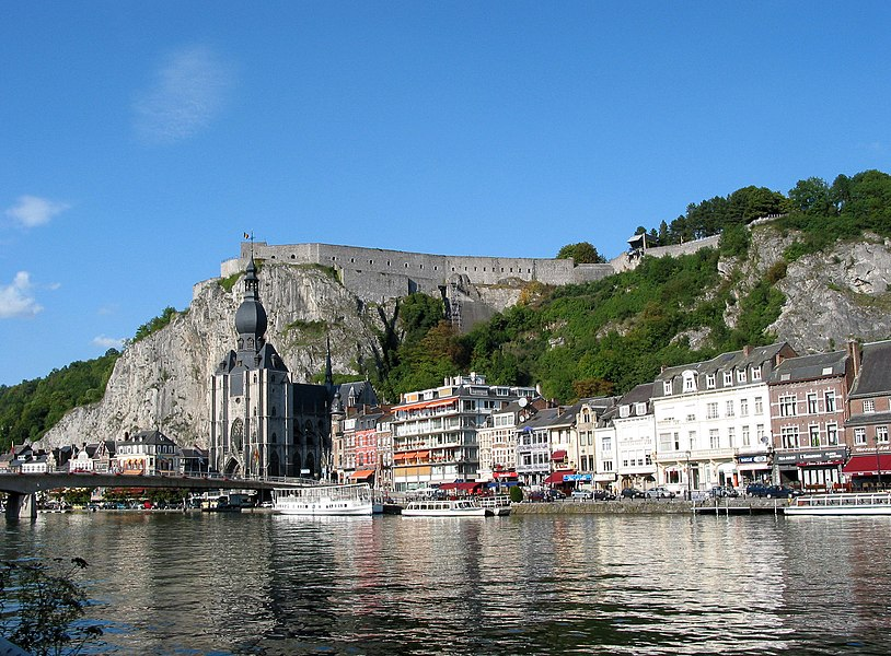Dinant (Belgium), the Meuse (river), , the city, the collegiate church of Notre-Dame and the Citadel.