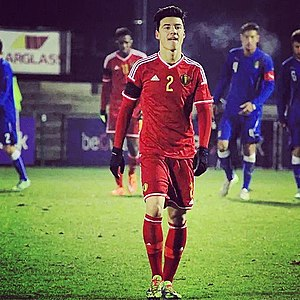 Dion Cools - Cools playing for Belgium U19.