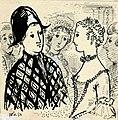 Disegno per copertina di libretto, disegno di Peter Hoffer per Il finto Arlecchino (1954) - Archivio Storico Ricordi ICON012407.jpg