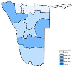 Distribution of Nama (Damara) in Namibia.png