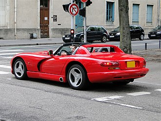 Dodge Viper (SR I) - Rear view of the Viper.