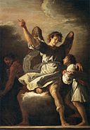 Domenico Fetti - The Guardian Angel Protecting a Child from the Empire of the Demon - WGA7849.jpg