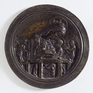Virgin and Child with Four Angels (Donatello) - The Virgin and Child with Four Angels, before 1456, Donatello, Victoria and Albert Museum no. A.1-1976