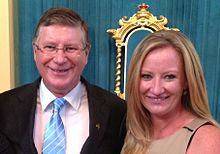 Donna Bauer MLA with Victorian Premier Denis Napthine- Taken at Government House in 2014 while attending an Australia Day event- 2014-03-28 21-41.jpg