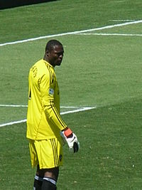 Donovan Ricketts at Galaxy at Earthquakes 2010-08-21 8.JPG