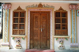 English: Beautiful Door Carvings at Kalaseswar...