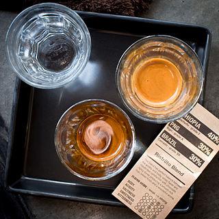 Ristretto short shot of espresso coffee