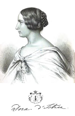 Dora d'Istria - Lithographed portrait of Dora d'Istria.