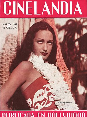 Dorothy Lamour on the Argentinean Magazine cover.