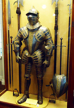 The armour of Thomas Sackville, made in the Greenwich Royal Workshops. Dorsetarmour.jpg