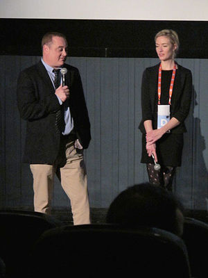 Douglas Tirola - Tirola at the Tribeca Film Festival showing of his documentary film Drunk Stoned Brilliant Dead, 16 April 2015.