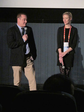 Douglas Tirola - Tirola at the Tribeca Film Festival showing of his documentary film Drunk Stoned Brilliant Dead, 16 April 2015.