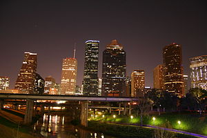 English: Downtown Houston Skyline at Night