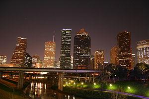 English: Downtown Houston Skyline at Night