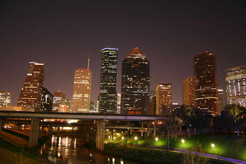 File:Downtown Houston Skyline Night.JPG