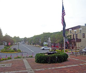 Woodridge, New York - Downtown Woodridge, from village hall plaza