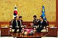 Dr. Jim Yong Kim meeting with South Korean President Lee Myung-Bak (7041887139).jpg
