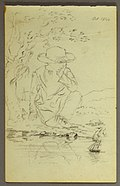Drawing, Boy knelling besides a tree, 1844 (CH 18194585).jpg