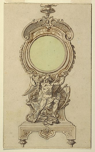Rocaille - Image: Drawing, Design for a Clock Case, ca. 1715 (CH 18170573 2)