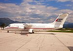 Dubai Air Wing Avro RJ85 (A6-RJ1) at Sarajevo.jpg