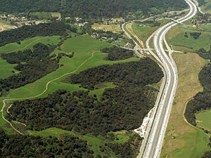 Interstate 580 (California) - I-580 at Palomares Road at the west end of Dublin Canyon