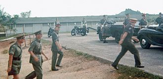 Terendak Camp - On the occasion of the visit of Prince Philip, Duke of Edinburgh to Terendak Garrison on 18th February, 1965. All the school children and families came to see Royalty.