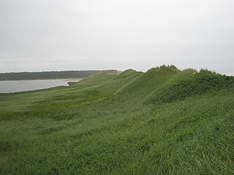 Prince Edward Island - The landward side of sand dunes in Cavendish