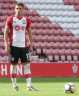 Dušan Tadić - Tadić playing for Southampton in 2017