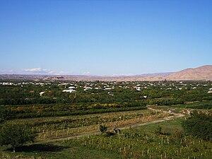 Dvin, Armenia - The modern village of Dvin (left) and Verin Dvin (right)