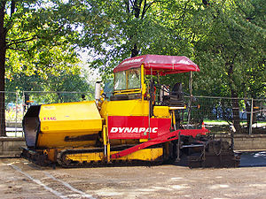 Dynapac F14C Paver during work