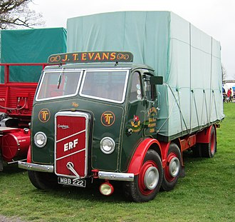 ERF (truck manufacturer) - Image: ERF truck with badge indicating Gardner diesel engine mfd 1947