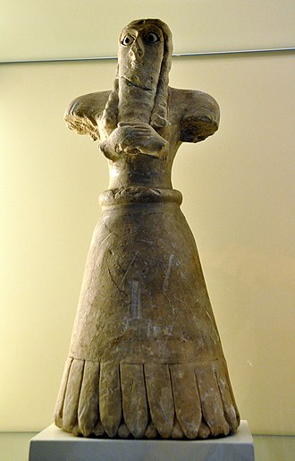 Tell Asmar Hoard - Early Dynastic statuette of a Sumerian male worshiper, very similar to Tell Asmar Hoard's statuettes, from Mesopotamia, Iraq