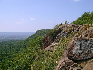The East Peak of the Hanging Hills in Meriden, Connecticut