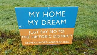 Eastmoreland Historic District - Image: Eastmoreland HD signage (2017) 2