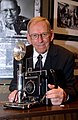 Ed Westcott with Speed Graphic Camera 2005 Oak Ridge (26022378608).jpg