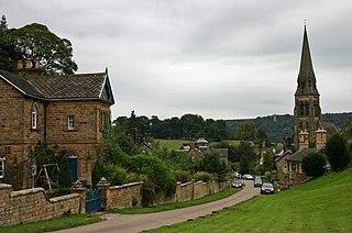 Edensor Human settlement in England