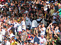 Edgbaston 2005 - Eng v Aus - Day 3 - Girl in the Crowd - For Boxing Day 2010 (5300453137).jpg