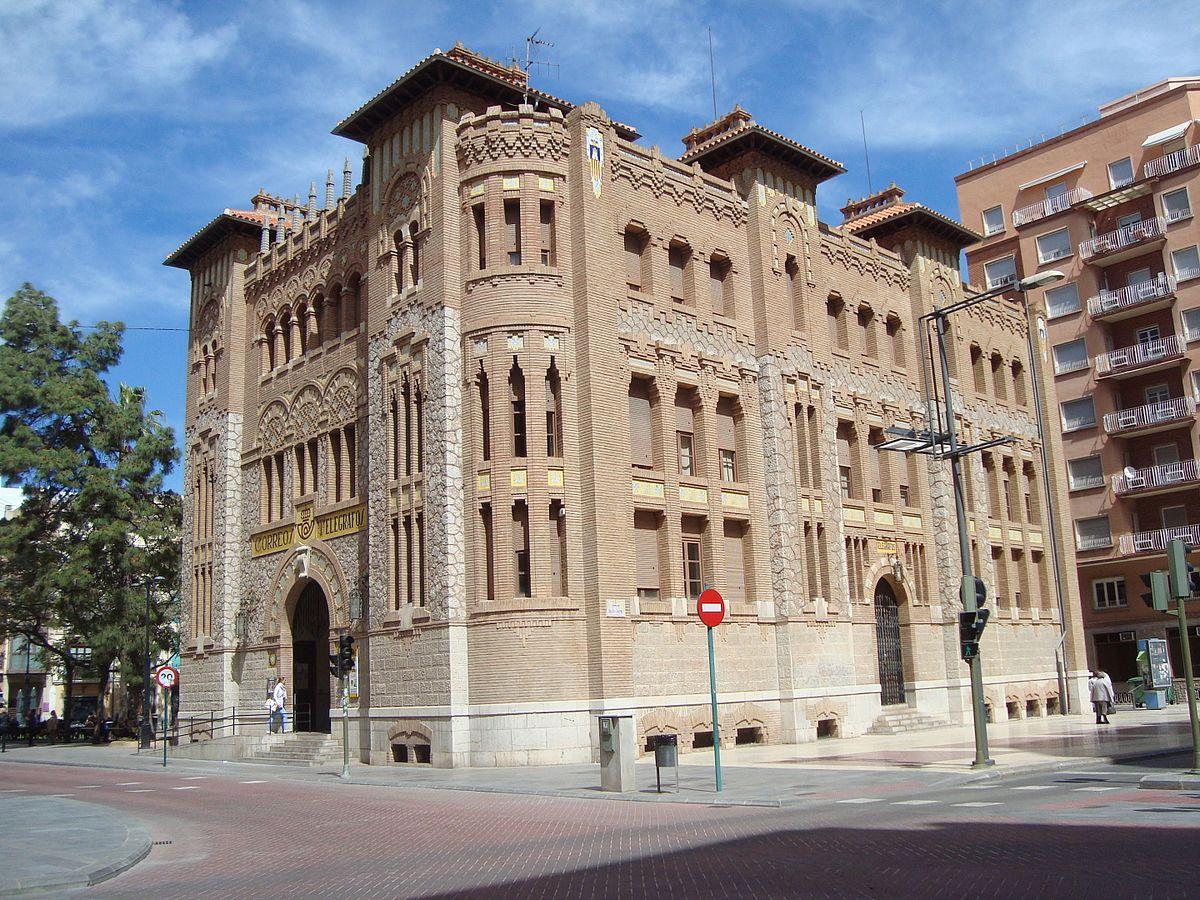 Edificio de correos de castell n wikipedia la for Oficina de correos logrono