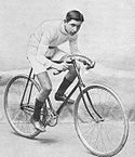 A picture of Edouard Taylor posing on his bike.