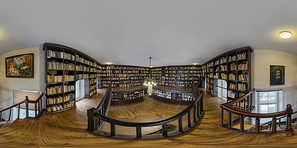 360° view on the library of the Estonian Students' Society