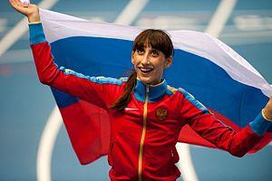 2014 IAAF World Indoor Championships – Women's triple jump - The gold medalist, Ekaterina Koneva of Russia.