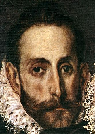The Burial of the Count of Orgaz - Detail of the painting, showing El Greco