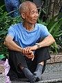 Elderly Man along Riverwalk - Tamsui - Taipei - Taiwan (32935475357).jpg