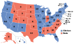 Electoral map, 1996 election