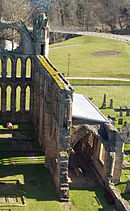 Elgin Cathedral re-roofed choir south aisle.jpg