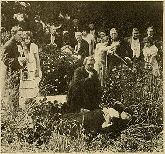 Augusta Jane Evans - A a frame from the lost film St. Elmo (1914), based on the novel by Augusta Evans.
