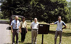 Elms field in Morton arboretum and elm breeders+ George Ware, Smalley and Guries 1987.07.02.jpg