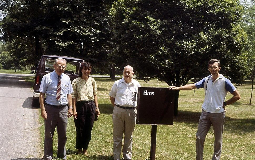Elms field in Morton arboretum and elm breeders+ George Ware, Smalley and Guries 1987.07.02